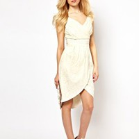 Lydia Bright Tulip Dress in Lace at asos.com