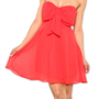 Coral Bow Dress | Studio 706 Boutique