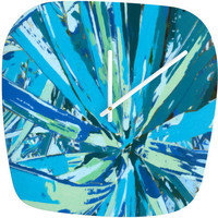 DENY Designs Home Accessories | Rosie Brown Bursting Bromeliad Modern Clock