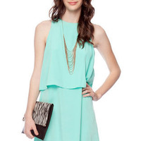 Tier Down Dress in Seafoam :: tobi