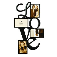 Burnes of Boston 545840 Love 4 Opening Wall Collage, 4-Inch by 6-Inch
