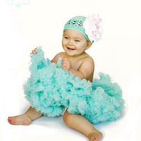 Aqua Baby Pettiskirt by Spoiled Rotten Kids