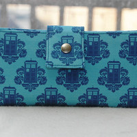 Handmade womens wallet doctor who handmade clutch tardis