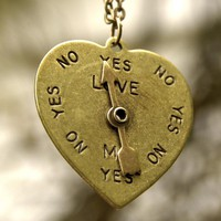 Brass Spinner Heart Necklace