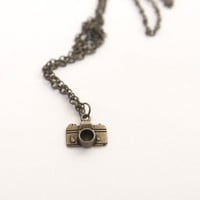 Small Camera Pendant Necklace Vintage Style 
