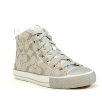 Coach Franca High Top Fashion Sneaker (Silver/Silver, 9)