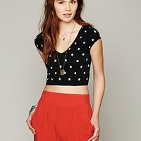 Free People Polka Dot Crop Cami