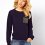 Mango Gem Pocket Sweat Top
