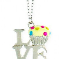 Cupcake Love Necklace