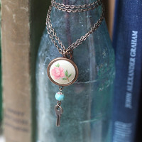 secret garden key indie necklace by Violet Bella