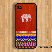 The Aztec Elephant on Wood Design: Iphone 4/4s case Iphone 5 case