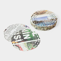 Newspaper Coasters
