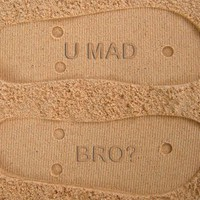 U Mad Bro? Custom Sand Imprint Flip Flops