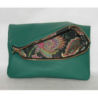 Harvey Leather Foldover Clutch