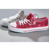 Sequin Sneakers with Chuck Style Low Top