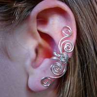 "Pair of Silver Plated Multi Swirl Ear Cuffs ""Swirls Galore"" 2 ear cuffs in this listing"