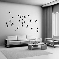 Flock of Birds Wall Decal Vinyl Sticker Dining Bedroom Living Room