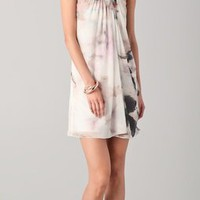 Alice + Olivia Eva Strapless Draped Dress