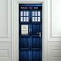 "Amazon.com: Wall Door STICKERTardis Doctor Dr Who Police box movie poster, mural, decole, film 30x79"" (77x200 Cm): Home & Kitchen"