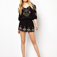 River Island Peasant Playsuit at asos.com