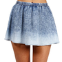 Dark Dye Denim Skirt