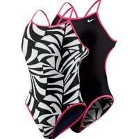 Nike Women&#x27;s Graphic Leaf Reversible Cut Out Tank Swimsuit - Dick&#x27;s Sporting Goods