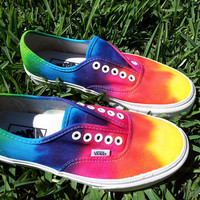 SALE  VANS limited time only Tie Die Vans by TyeDyeLand on Etsy