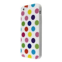 Amazon.com: eFuture White & Colorful Polka Dot Flex Gel TPU Case Cover fit for the new Iphone5 5G +eFuture's nice Keyring: Cell Phones & Accessories