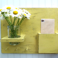 Hooks and Jar Primitive Wall Mail Organizer by SophiasSignBoutique