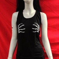 Skeleton Hands Girls Tanktop :: VampireFreaks Store :: Gothic Clothing, Cyber-goth, punk, metal, alternative, rave, freak fashions