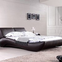 Vouge Contemporary Platform Bed King (Mocha)