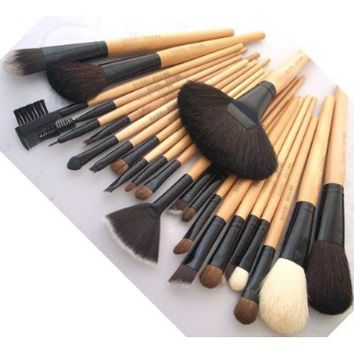 BOSTON WORLD Black 24 PCS Professional Makeup Brush Set Include Free Pouch