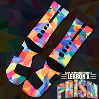Lebron X Prism Custom Nike Elite Socks | Rock 'Em Apparel