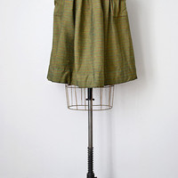 vintage 1940s skirt green stripes with large pockets [Wicklow Farmland Skirt] - $108.00 : ADORED | VINTAGE, Vintage Clothing Online Store