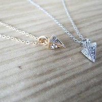 Petite Paved Spike Necklace in Gold or Silver from JuicyDealz