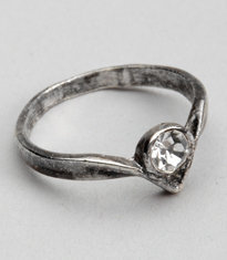 antique diamond drop ring