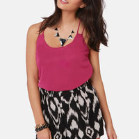 Costa Blanca Flutterby Berry Pink Tank Top