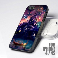 The Lights Disney Tangled design for iPhone 4 or 4s case