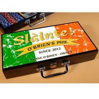Pride of the Irish Personalized Poker Set