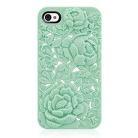 Unique Rose Embossing Case for iPhone 4/4S from Hallomall