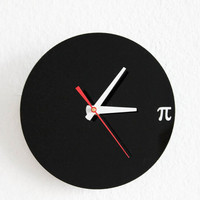 Pi Wall Clock  Geek Nerd Math Chic by iluxo on Etsy