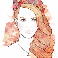 Lana Del Rey Art Print by Juan Sierra | Society6