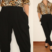 Harem Pants Career Pants in Black for Women