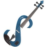 New Solid Body Metallic Baby Blue 4/4 Electric Viola w/ Case + Extras
