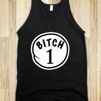 BITCH 1 black tank