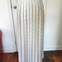 Vintage White Polka Dot Long Pleated Skirt by vintageworldrocks