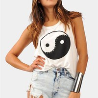 Ying Yang Tank - Ivory