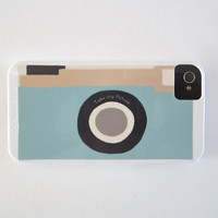 Camera Blue Vintage Retro IPhone 4/4s Case Modern Aqua Cockatoo Redtilestudio | Luulla