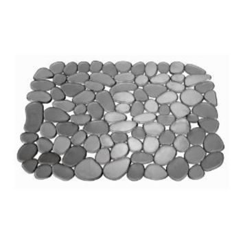 InterDesign Pebblz Sink Regular Sink Mat, Graphite