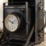 Classic  Metal Case Camera Clock (6x6) &amp;#36;19
